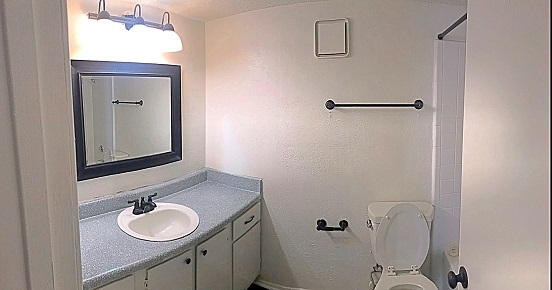 Modern Bathroom Features at The Cassidy at Western Hills Apartments in Fort Worth, Texas