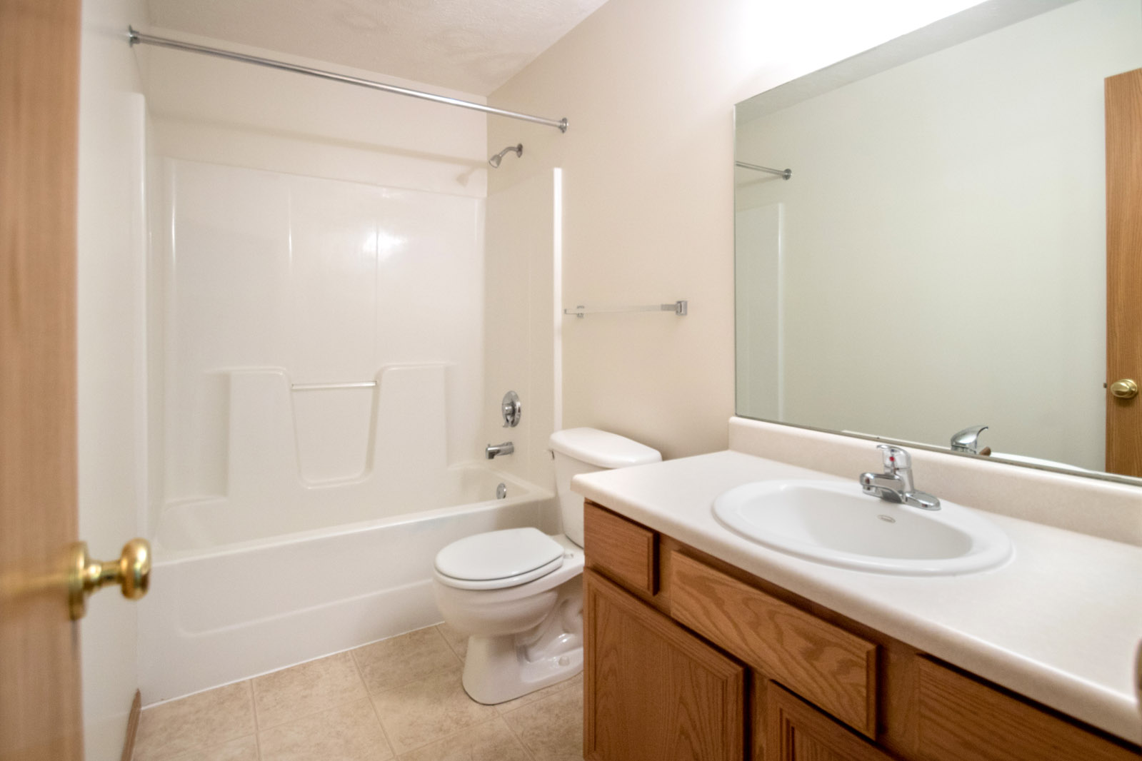 Single Vanity Bathrooms at Northridge Apartments in Gretna, Nebraska