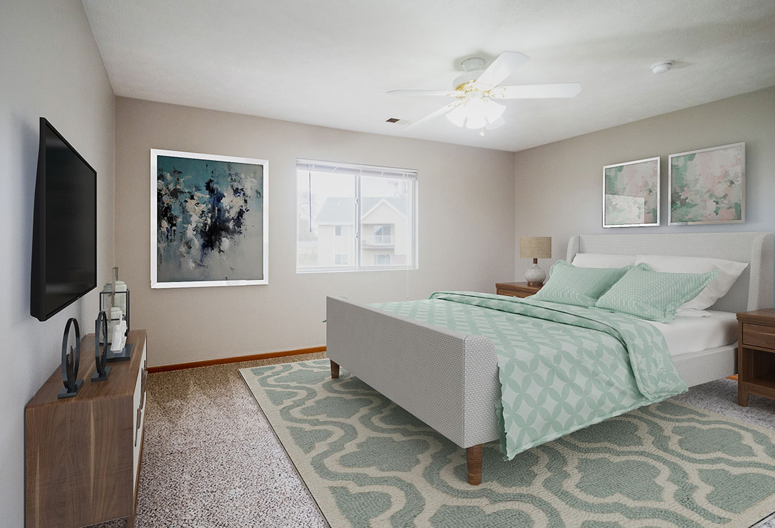 Spacious Bedrooms at Northridge Apartments in Gretna, Nebraska