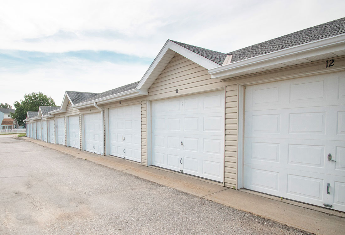 Garages at Northridge Apartments in Gretna, Nebraska