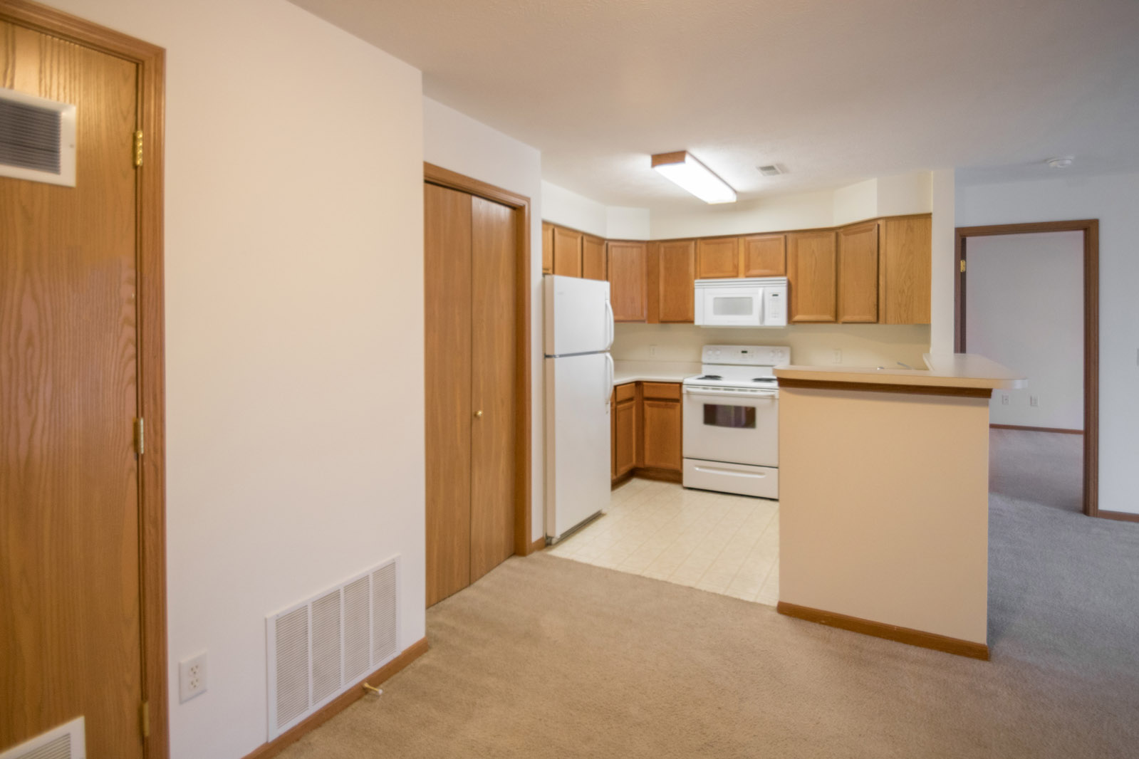 Spacious Kitchen at Northridge Apartments in Gretna, Nebraska