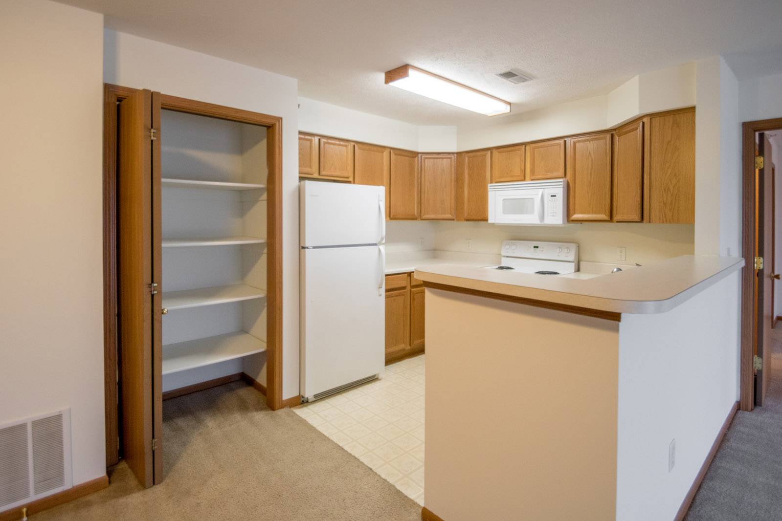 Kitchen Pantry at Northridge Apartments in Gretna, Nebraska