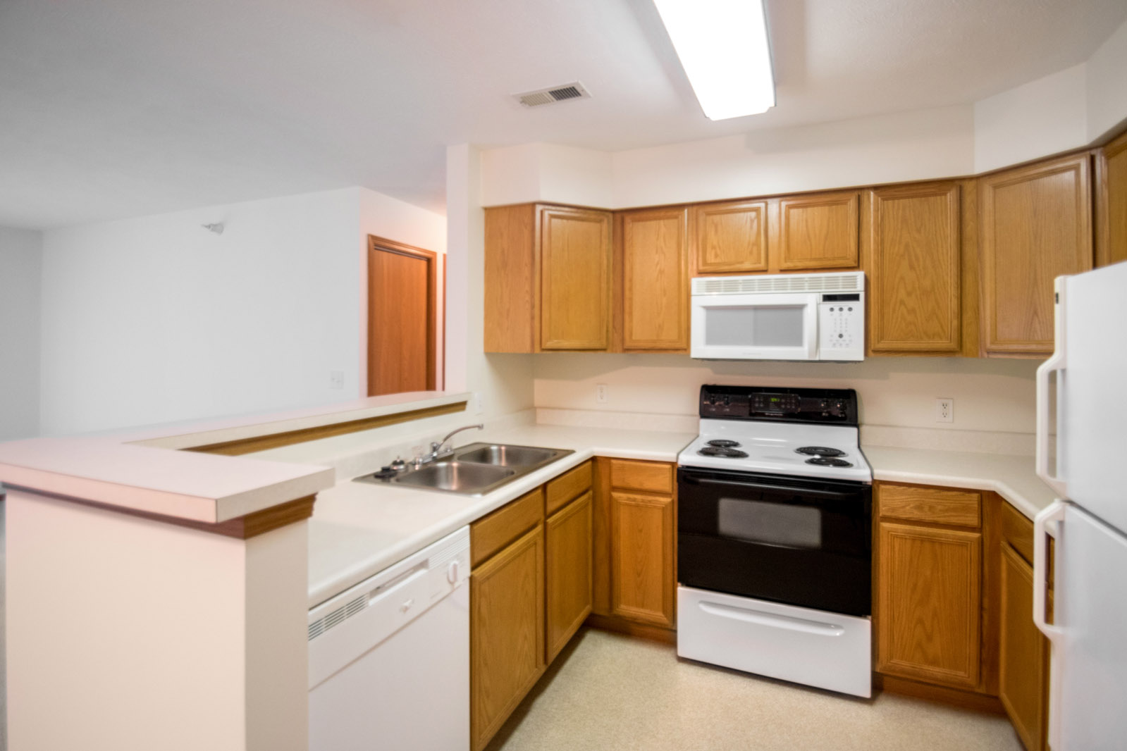 Wooden Cabinetry at Northridge Apartments in Gretna, Nebraska