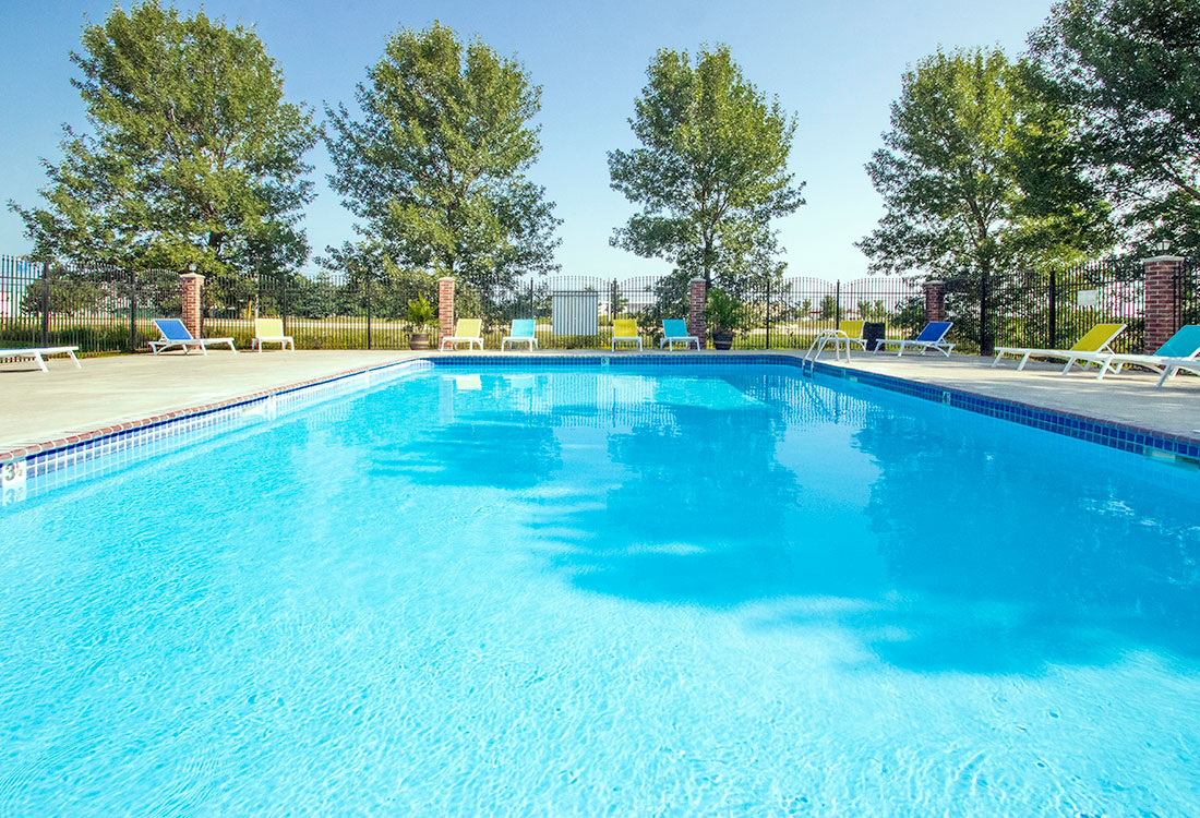 Sparkling Swimming Pool at Northridge Apartments in Gretna, Nebraska