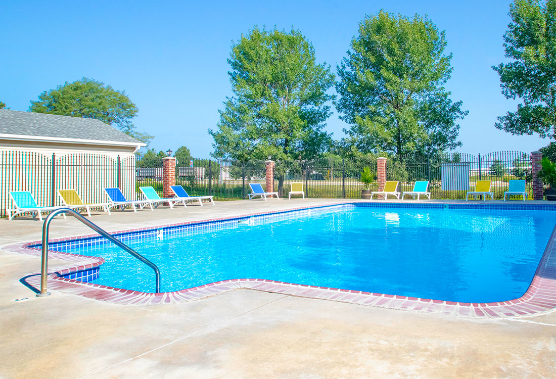 Outdoor Swimming Pool at Northridge Apartments in Gretna, Nebraska
