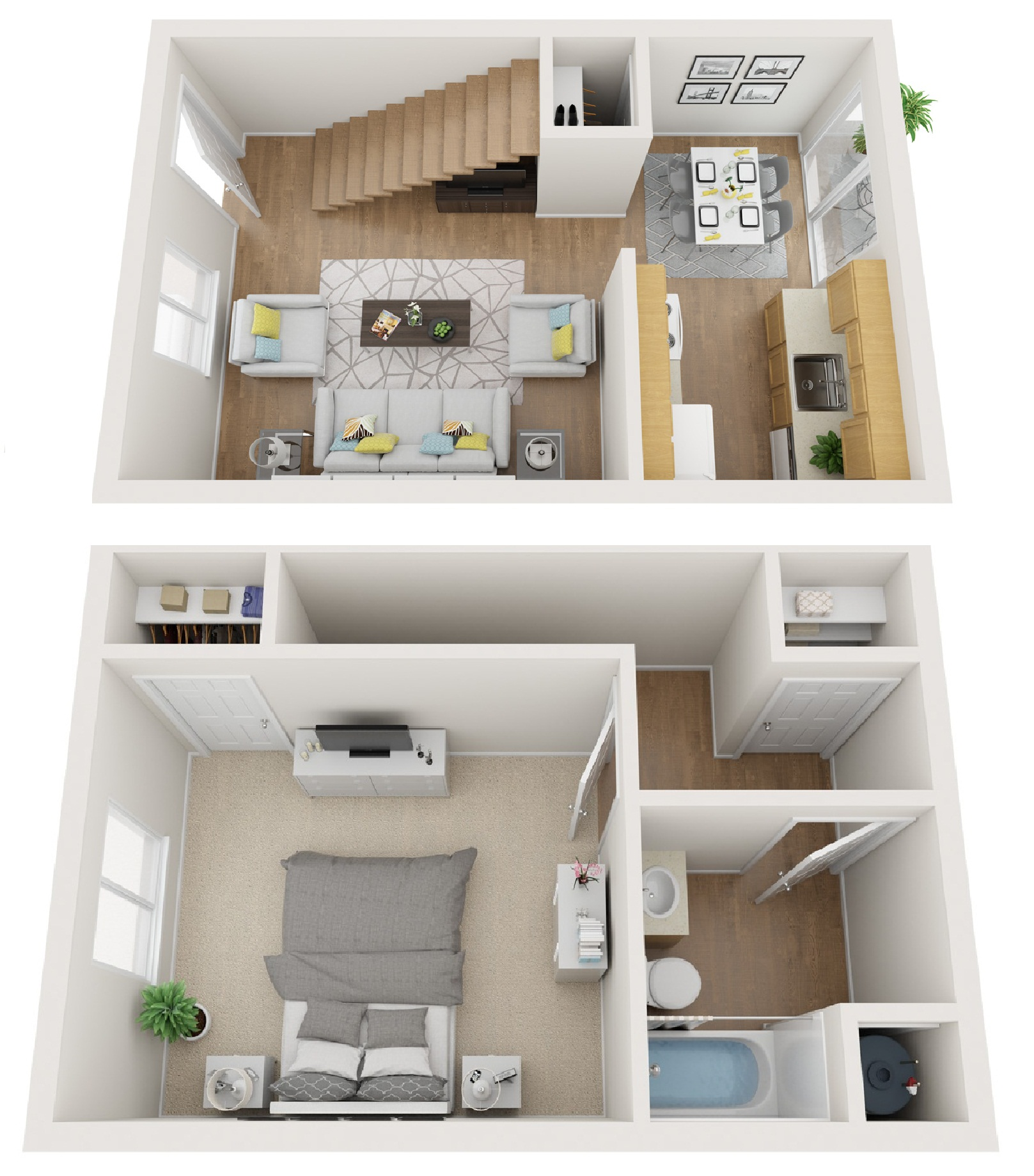 North Star Apartments Homes - Floorplan - 1 BR