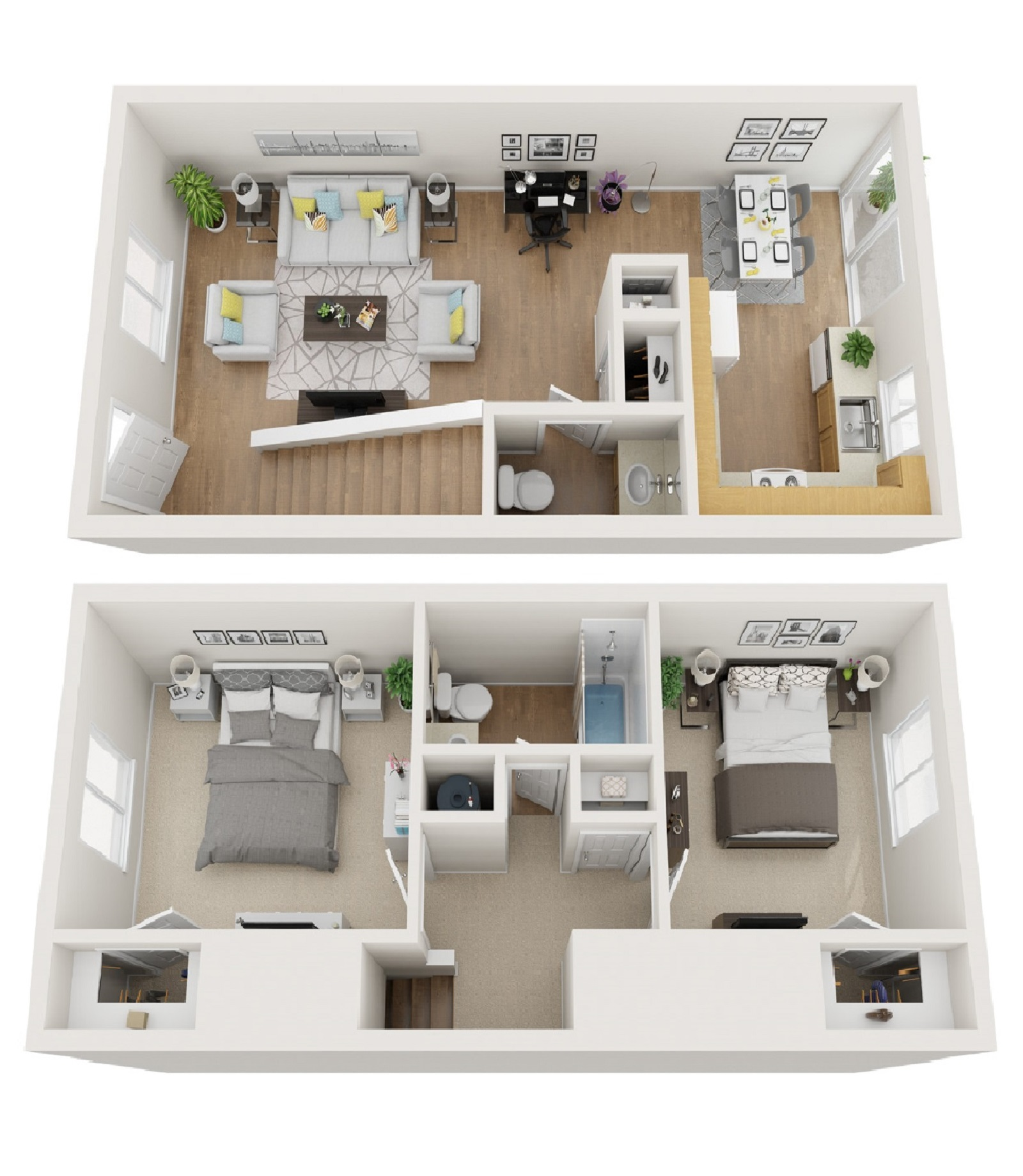 North Star Apartments Homes - Floorplan - 2 BR