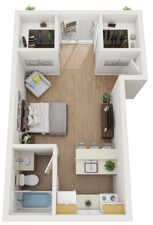 North Star Apartments Homes - Floorplan - Studio