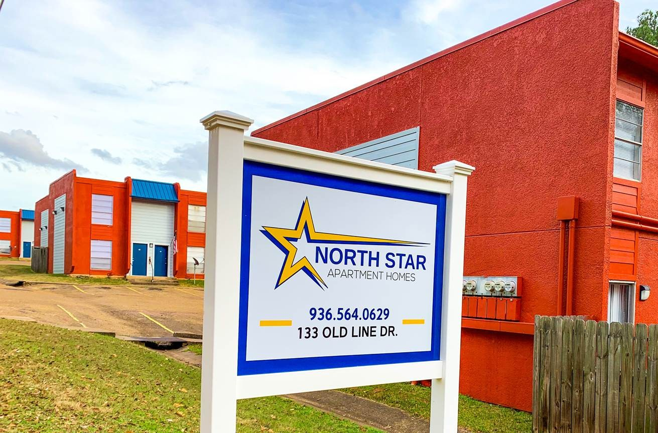 Signage at North Star Apartment Homes in Nacogdoches, Texas