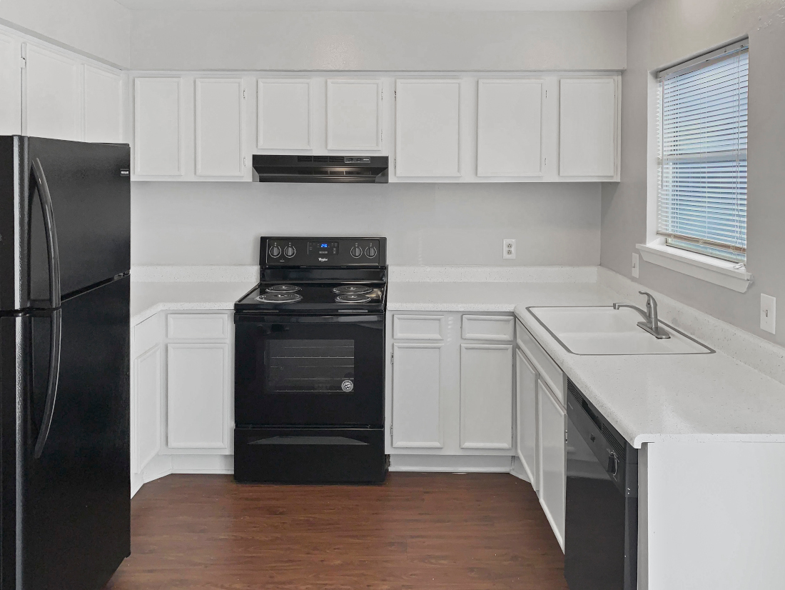 Fully Equipped Kitchen at North Star Apartment Homes in Nacogdoches, Texas