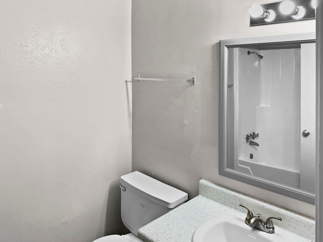 White Restroom at North Star Apartment Homes in Nacogdoches, Texas