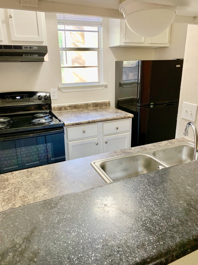Black Kitchen Appliances at North Star Apartment Homes in Nacogdoches, Texas