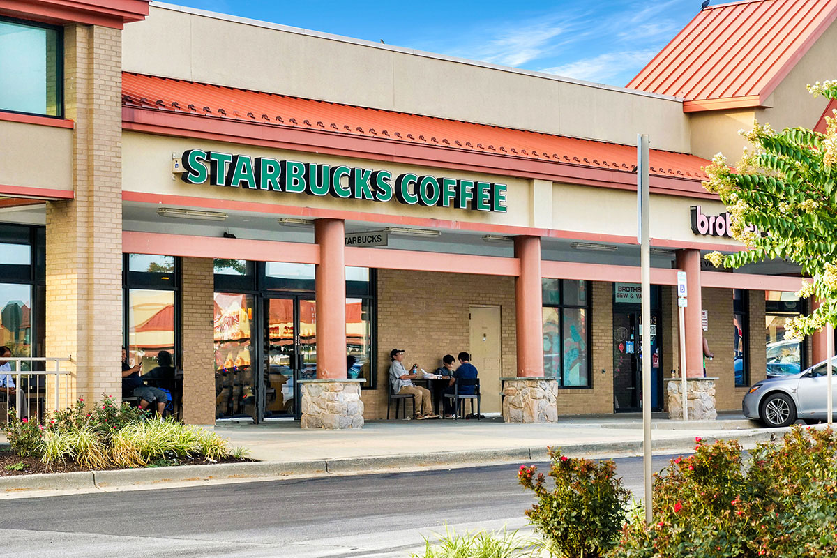 Starbucks is 5 minutes from Northwest Park Apartments in Silver Spring, MD