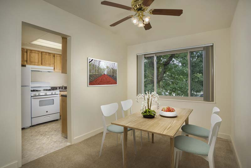 Dining area at Northwest Park Apartments in Silver Spring, MD