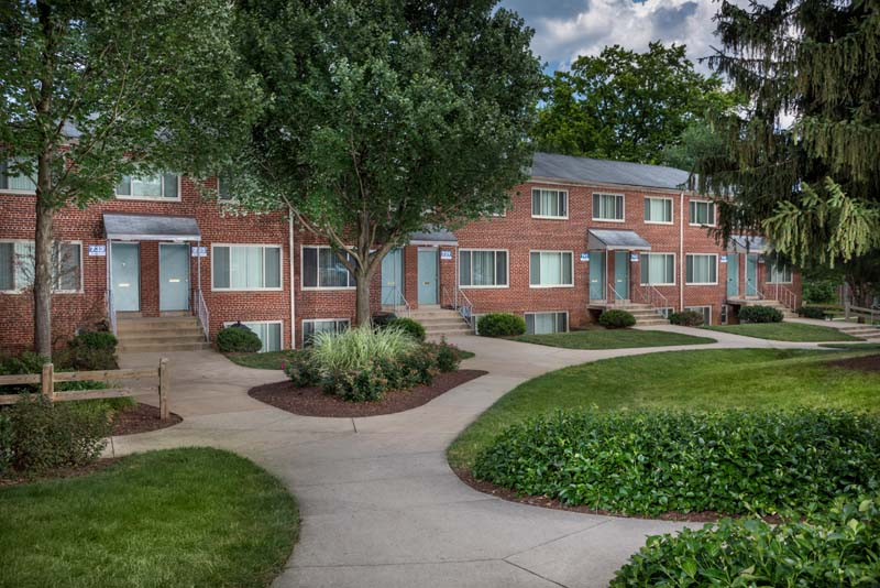 Beautiful courtyards at Northwest Park Apartments in Silver Spring, MD