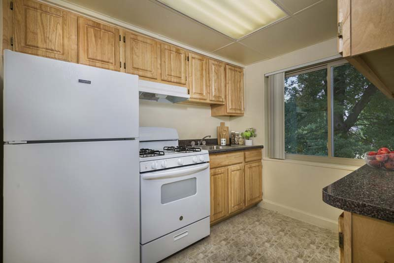 Well equipped kitchen at Northwest Park Apartments in Silver Spring, MD