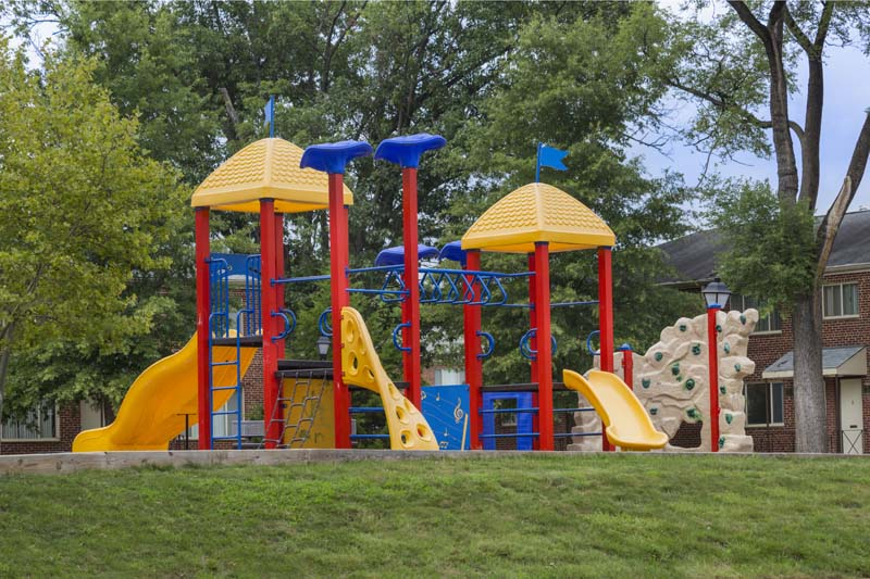 Four play areas at Northwest Park Apartments in Silver Spring, MD