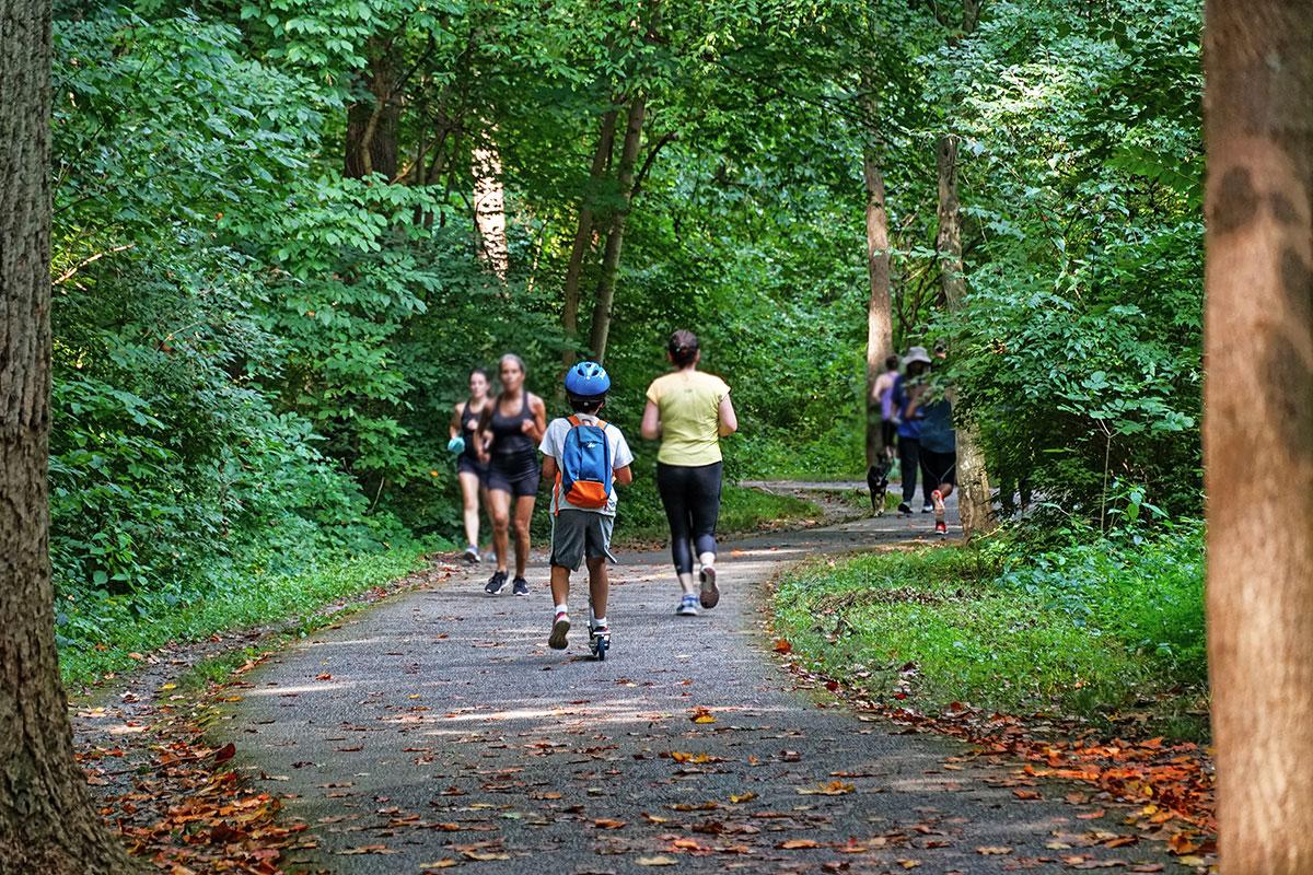5 minutes to beautiful Sligo Creek Park with 7-mile paved trail