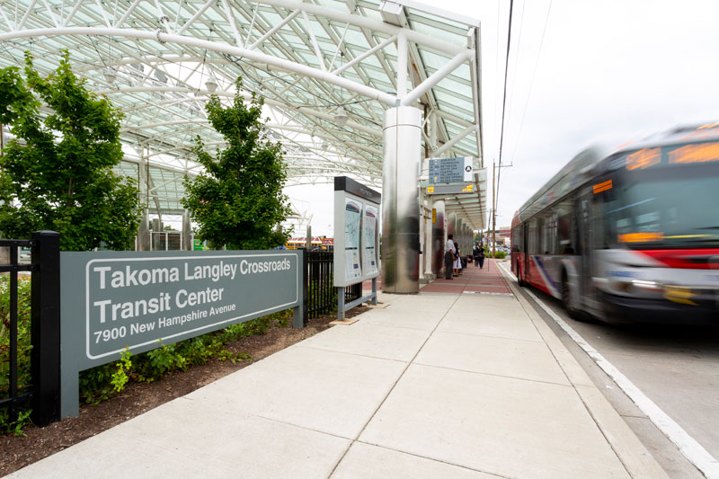 Takoma Langley Crossroads Transit Center is 5 minutes from Northwest Park Apartments