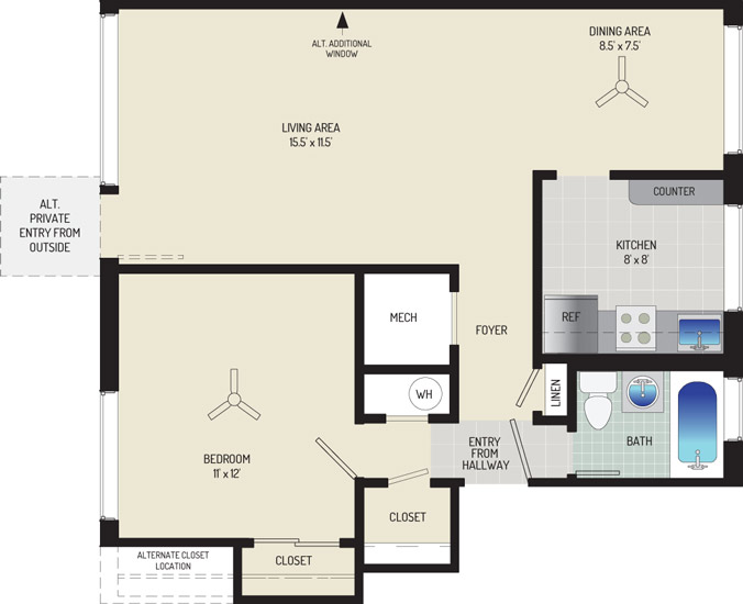 Northwest Park Apartments - Apartment 06P104-D-C1