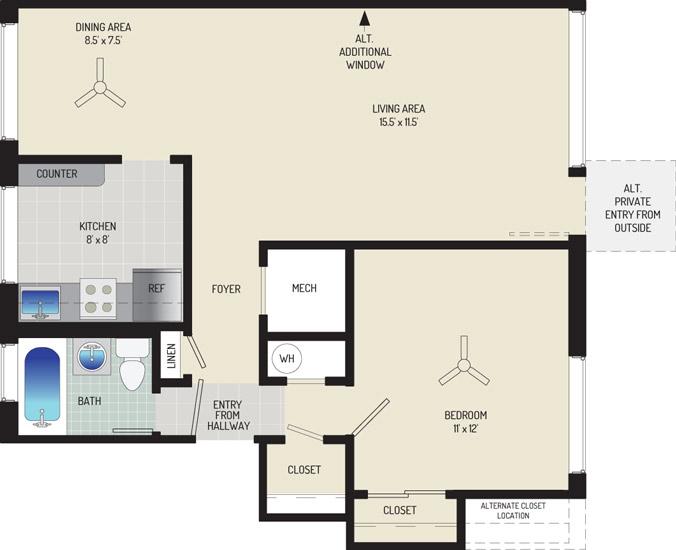 Northwest Park Apartments - Apartment 06P103-E-C2