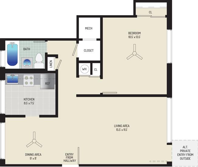 Northwest Park Apartments - Apartment 06C166-E-D