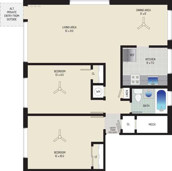 Northwest Park Apartments - Apartment 06P114-B-H1