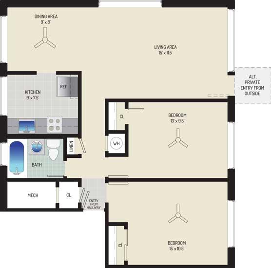 Northwest Park Apartments - Apartment 06P100-A-H2