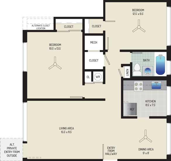 Northwest Park Apartments - Apartment 06P100-D-J