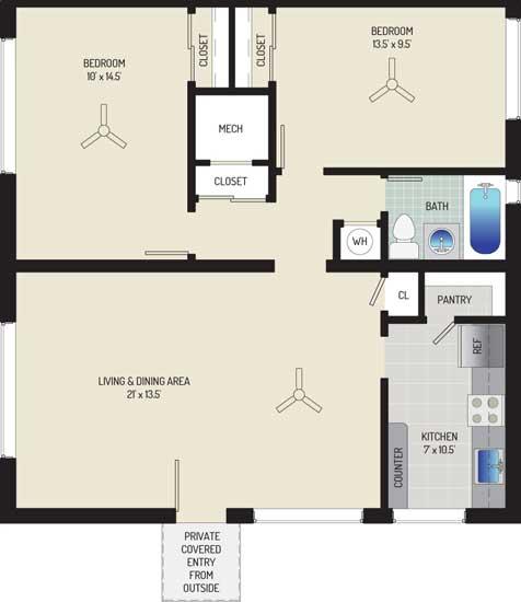 Northwest Park Apartments - Apartment 06P105-A-L1