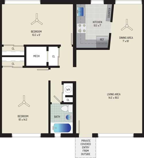 Northwest Park Apartments - Apartment 06S202-A-T1