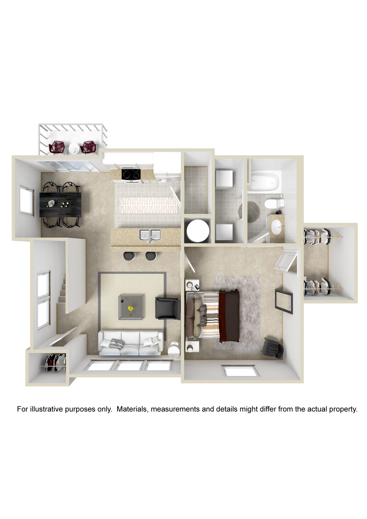 Oakmont Apartment Homes - Floorplan - Plan A2