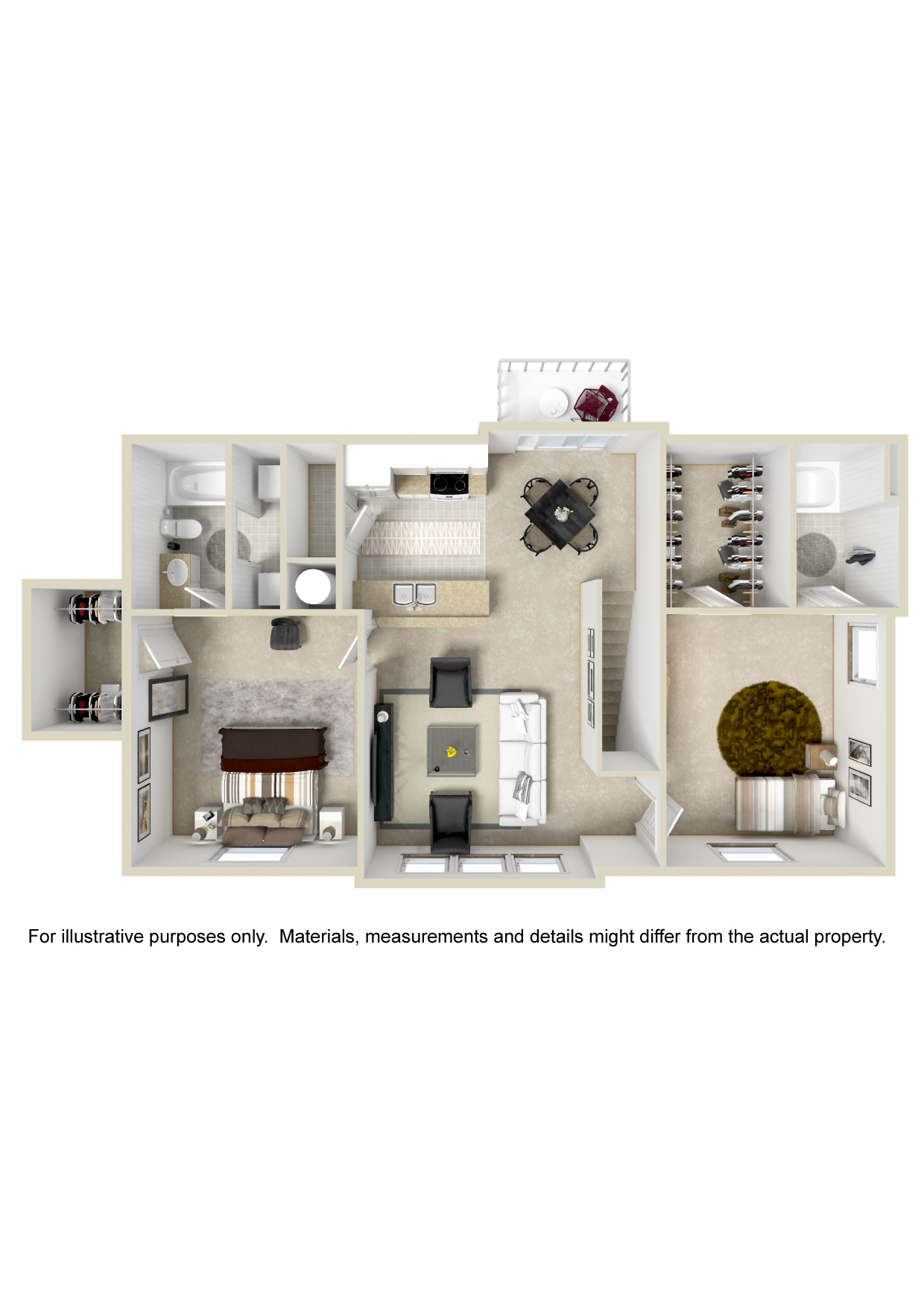 Oakmont Apartment Homes - Floorplan - Plan B2