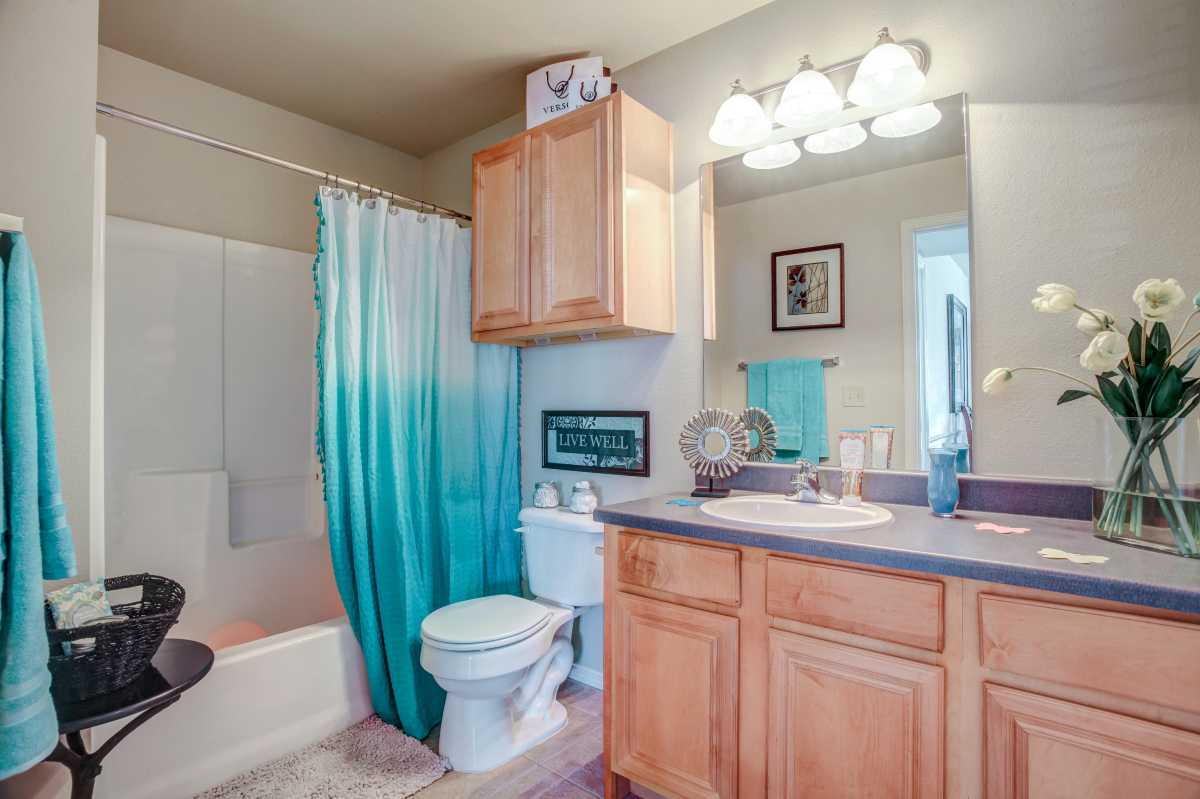 Oakmont Luxury Guest Bathroom at the Oakmont Apartment Homes in Catoosa, OK