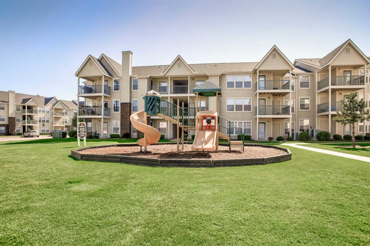 Outdoor Playground at the Oakmont Apartment Homes in Catoosa, OK
