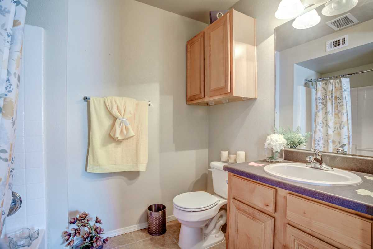 Oakmont Luxury, Master Bathroom at the Oakmont Apartment Homes in Catoosa, OK