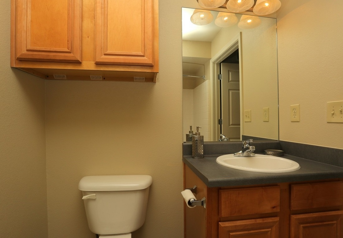 Bathroom at the Oakmont Apartment Homes in Catoosa, OK