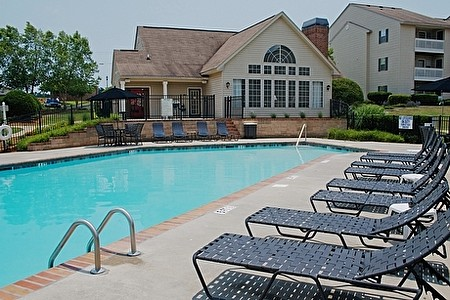 Resort-Style Pool with Sundeck at the Oak Pointe Apartment Homes in Simpsonville , SC
