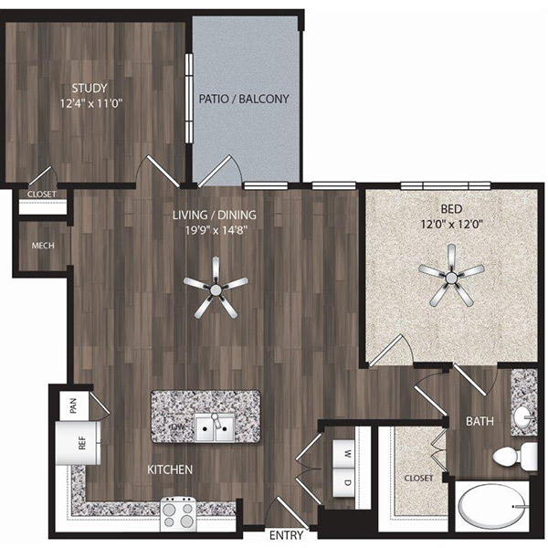 Oaks 55 - Floorplan - A12