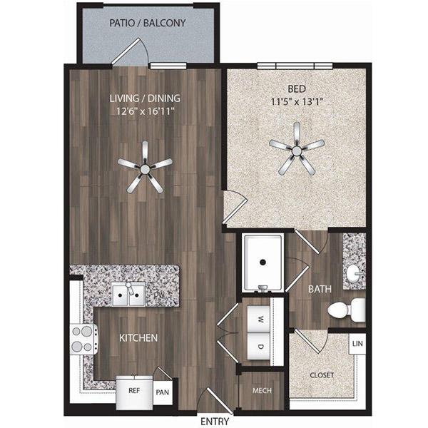 Oaks 55 - Floorplan - A2