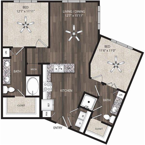 Oaks 55 - Floorplan - B1