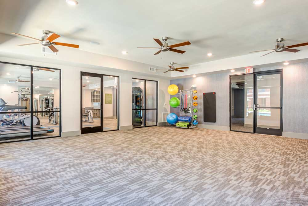 Yoga Studio at Oaks 55 Apartments in Euless, TX