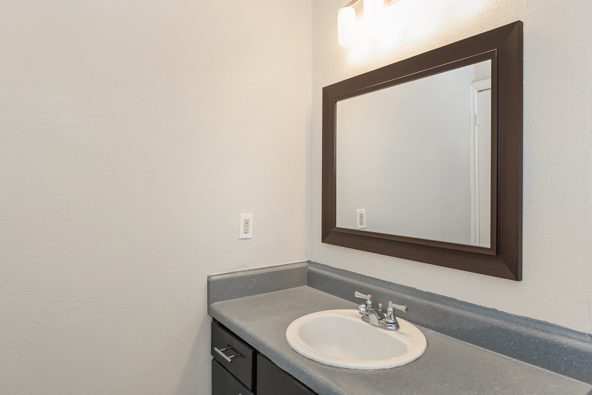 Single Vanity at Oaks at Mustang Apartments in Alvin, TX