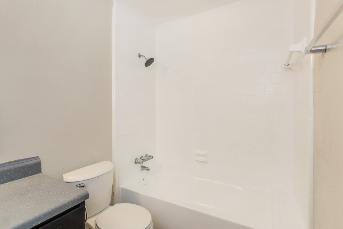 Shower and Tub Combination at Oaks at Mustang Apartments in Alvin, TX