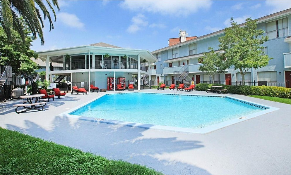 Resort-Style Swimming Pool at Ocean Drive Estates Apartments in Corpus Christi, TX