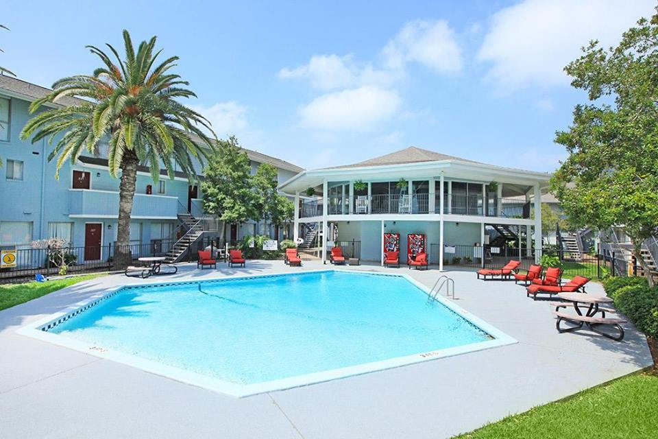 Outdoor Swimming Pool at Ocean Drive Estates Apartments in Corpus Christi, TX