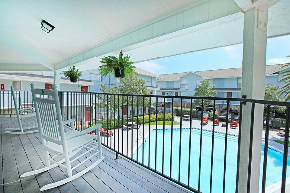 Balconies with Stunning Views at Ocean Drive Estates Apartments in Corpus Christi, TX