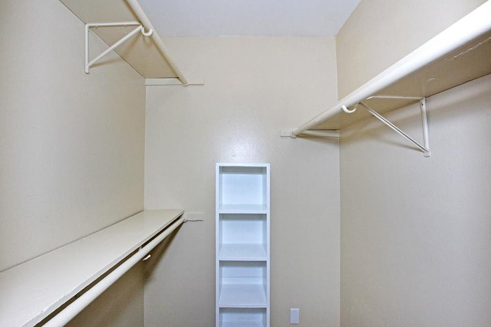 Spacious Walk-In Closet at Ocean Drive Estates Apartments in Corpus Christi, TX
