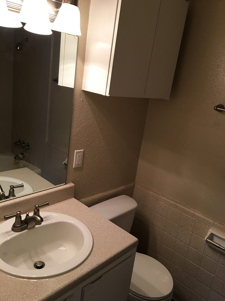 Single Sink Vanities at Ocean Drive Estates Apartments in Corpus Christi, TX
