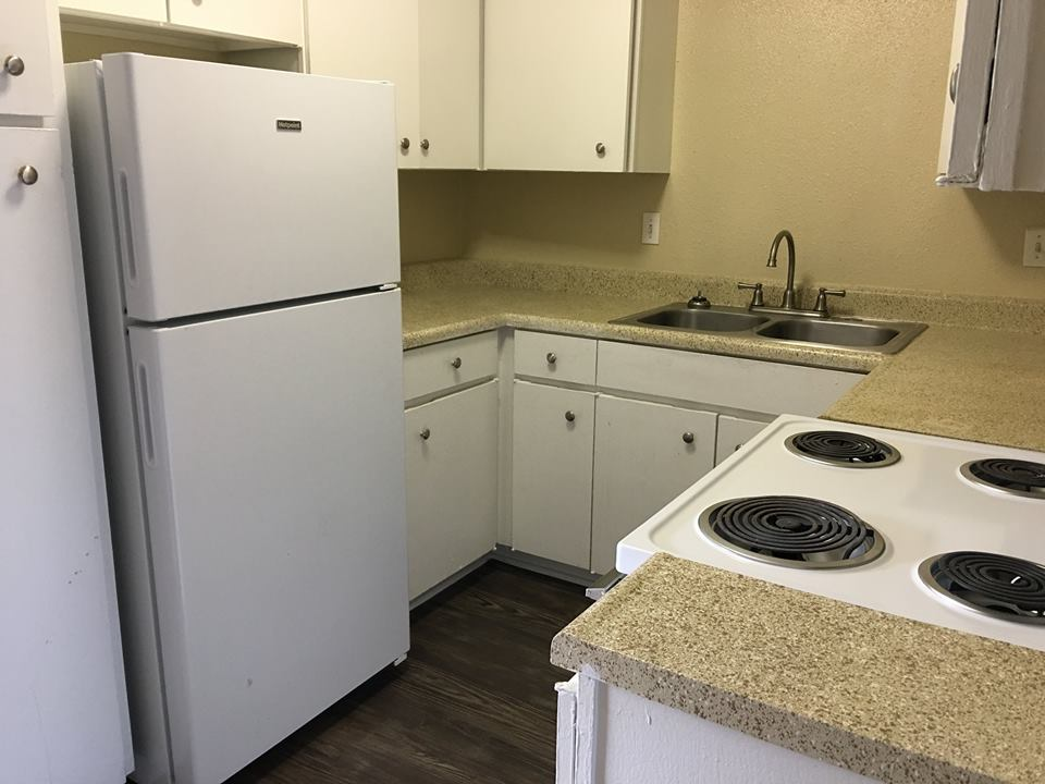 Spacious Kitchen at Ocean Drive Estates Apartments in Corpus Christi, TX